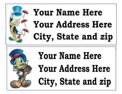 30 Jiminy Cricket Or Other Disney Return Address Labels