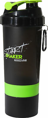 StartLine 600ml Start Shaker Bottle - Black/Green