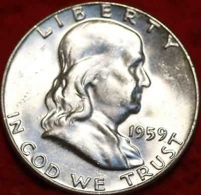 Uncirculated 1959 Philadelphia Mint Silver Franklin Half