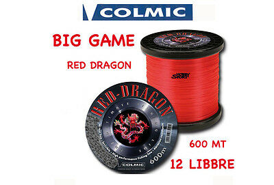 Filo Nylon Traina Big Game 12 Lb Red Dragon Colmic