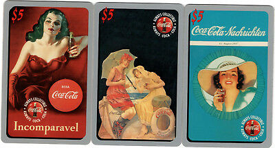 Lot of 3 $5 Coca Cola Phone Cards #'d Sprint US 1995 COKE Limited Phonecards #2