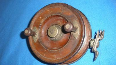 RETRO VINTAGE ALVEY WOOD AND BRASS FISHING REEL MANUAL 6 in. SPOOL