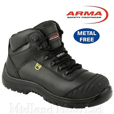 ARMA  Composite Toe Cap ESD Leather S3 Safety Boots. Metal Free. A13  Airsafe