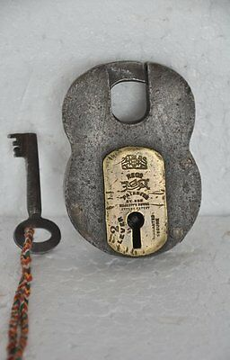 Old Iron Handcrafted 2 Lever Solid Heavy Unique Padlock , Rich Patina