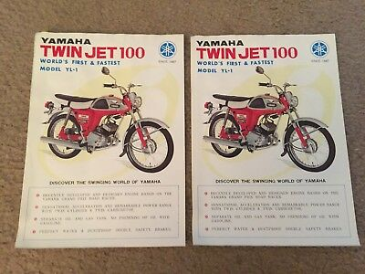 "LOT 2--1967 Yamaha ""Twin Jet 100--YL-1"" Motorcycle Dealer Sales Brochures"