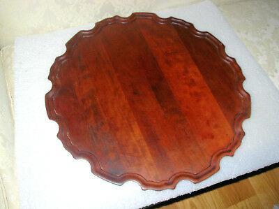 Large Williamsburg Style Chippendale Mahogany Piecrust Tray