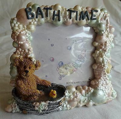 BOYDS BEARS & FRIENDS 2000 BATH TIME Bubbles Photo Frame 2E/1689 Holds 3x3 Pic