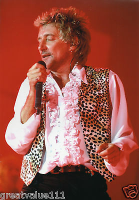 Rod Stewart Photo 1996 Huge Unique Image Far East Unreleased Exclusive 12 Inch