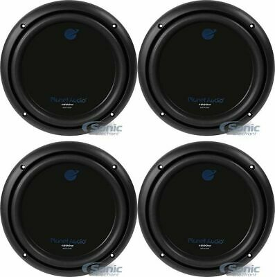 """(4) Planet Audio AC10D 10"""" Inch 6000 Watts Power Car Audio Subwoofers Package"""