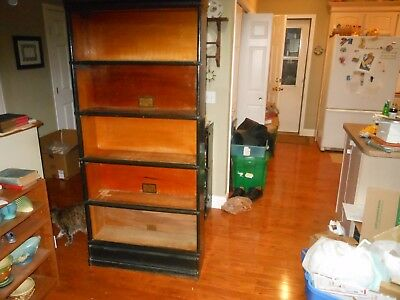 Antique Globe Wernicke Stacking Barrister Bookcase 5 Section C11 No Doors