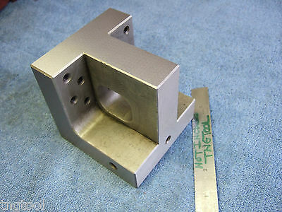 """Angle Plate 4"""" Toolmaker Knee Tapped 1/4X20 Machinist Grind Inspection Edm Mill"""