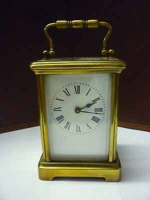 Antique Brass 8 Day Carriage Clock In Good Working Order (2)