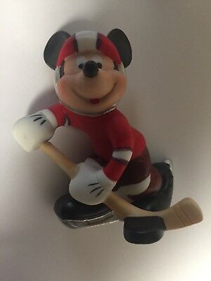 Disney Productions Schmid Mickey Mouse HOCKEY PLAYER Excellent & RARE!