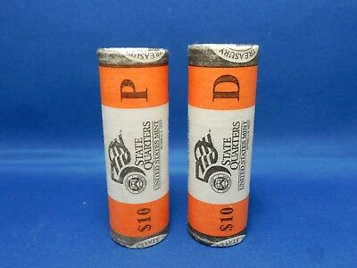 2 $10 US Mint Rolls of 2002 Tennessee State Quarters Philadelphia and Denver