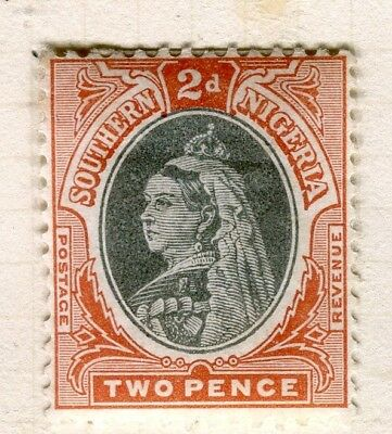 NIGERIA; SOUTHERN 1901 early QV issue Mint hinged 2d. value