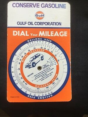 """Vintage GULF OIL CORP """"Dial your Mileage"""""""