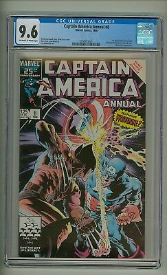 Captain America Annual #8 (CGC 9.6) OW/W pages; Wolverine; Mike Zeck (c#19975)