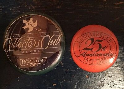 Longaberger Pins - Collectors Club & 25th Anniversary