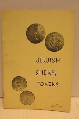 Jewish Shekel Tokens by Frank Lapa 1972 First Edition Limited Copies