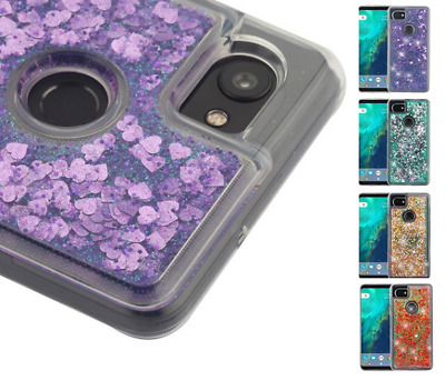 For Google Pixel 2 XL Quicksand Glitter Bling Hybrid Protector Case Cover