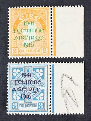 CKStamps: Ireland Stamps Collection Scott#118 119 Mint NH OG, Selvage H