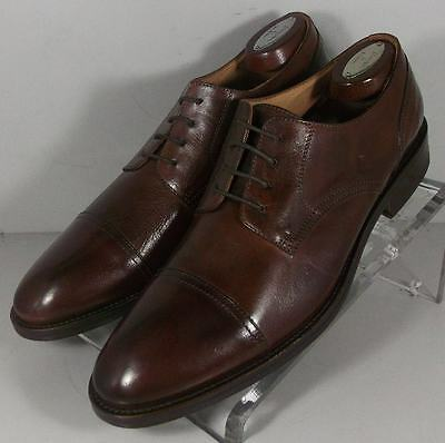 241574 FTi60 Men's Shoes Size 9 M Brown Leather Made in Italy Johnston Murphy