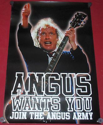 AC/DC Angus Original Rolled Poster 24x36 Wants You Join the  Army NEW Rock Music