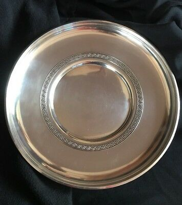 "Gorham Etruscan 1193 Greek Key 9"" Dished Cake Plate 1955 Sterling 6 Ozs"