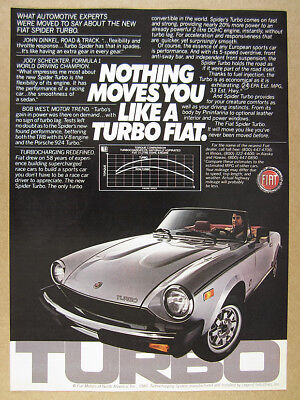 1981 Fiat 124 Spider Turbo color photo vintage print Ad