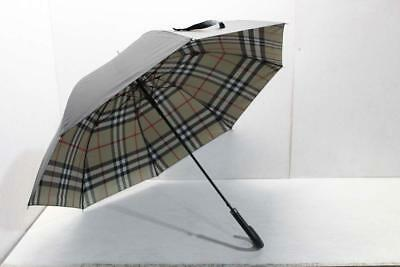 Burberry Giant Exploded Check Black Walking Umbrella