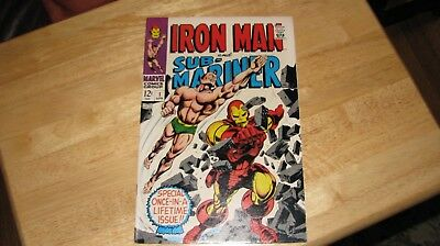 Marvel Comics Iron Man & Sub-Mariner #1 April 1968 Exc+ Frank Zappa