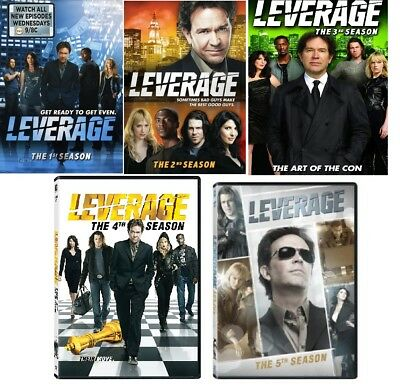 LEVERAGE (2008-12) Complete TV Series Season 1-5 DVD Bundle Set BRAND NEW