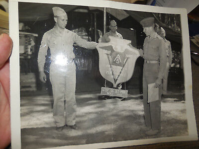 Vintage 1944 WW II 5th US Army Outstanding Unit In Italy B/W Photograph