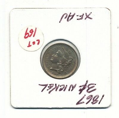 1867 Liberty Head 3 Cent Nickel Exact Coin Shown - FREE Shipping