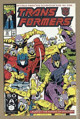 Transformers (Marvel) 1st Printing #74 1991 FN/VF 7.0
