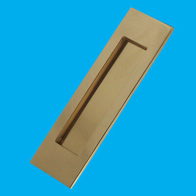 Polished Solid Brass Vertical Door Letterbox Mullion Sprung Letter Plate