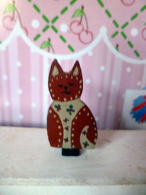 Artist Signed Joab Dollhouse Miniature CAT Shelf Decoration OOAK