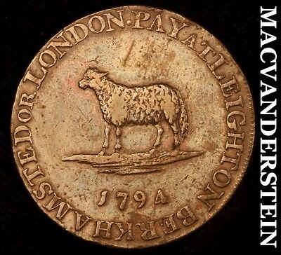 Great Britain: 1794 Lace Manufactory Halfpenny Conder Token- !! #a9125