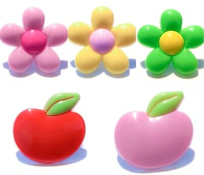 20pcs Flowers & Apple PVC Shoes Charms fit for Croc & Jibbitz Wristbands Gifts