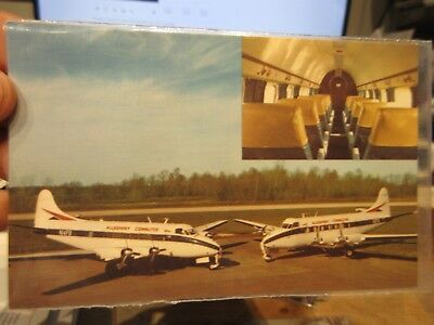 Vintage Old Postcard OHIO Galion Municipal Airport Allegheny Community Airplanes