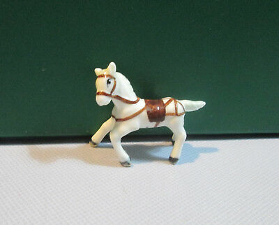Vintage 1970s TINY Glass/Ceramic Horse Figurine in Excellent Condition