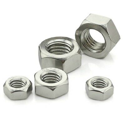 100pcs/set  M3 M4 M5 M6 STAINLESS STEEL HEX FULL NUTS HEXAGON NUT Wholesale