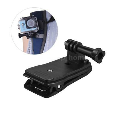 360° Rotary Clamp Clip On Backpack Strap Cap For Go Pro Hero Action Camera Z7P4