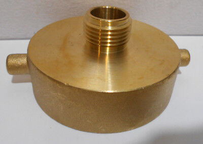 "3"" Brass Hydrant Cap to Garden Hose Adapter GHT Thread"