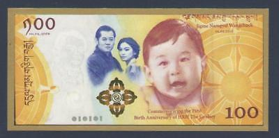 BHUTAN  100  NGULTRUM  2016 (2018)   P NEW + FOLDER  Uncirculated  Prefix : RB