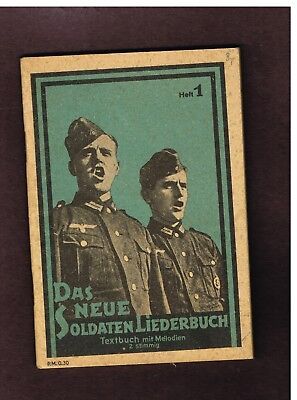 GERMANY WWI WORLD WAR TWO MUSIC BOOK (JUly14