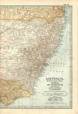 Colour map culled from a 1903 atlas AUSTRALIA South-East Part