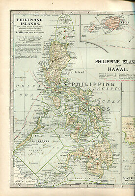 Colour map culled from a 1903 atlas PHILIPPINES & HAWII