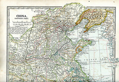 Colour map culled from a 1903 atlas CHINA Eastern Part