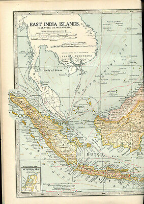 Colour map culled from a 1903 atlas EAST INDIA ISLANDS